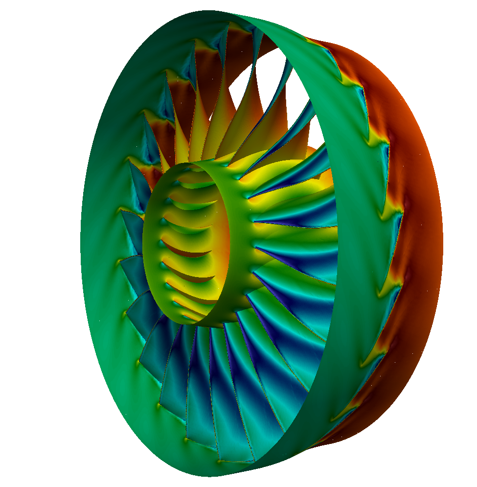 Axial Compressor Segment Tutorial Pressure any View NASA Rotor 67 CFD