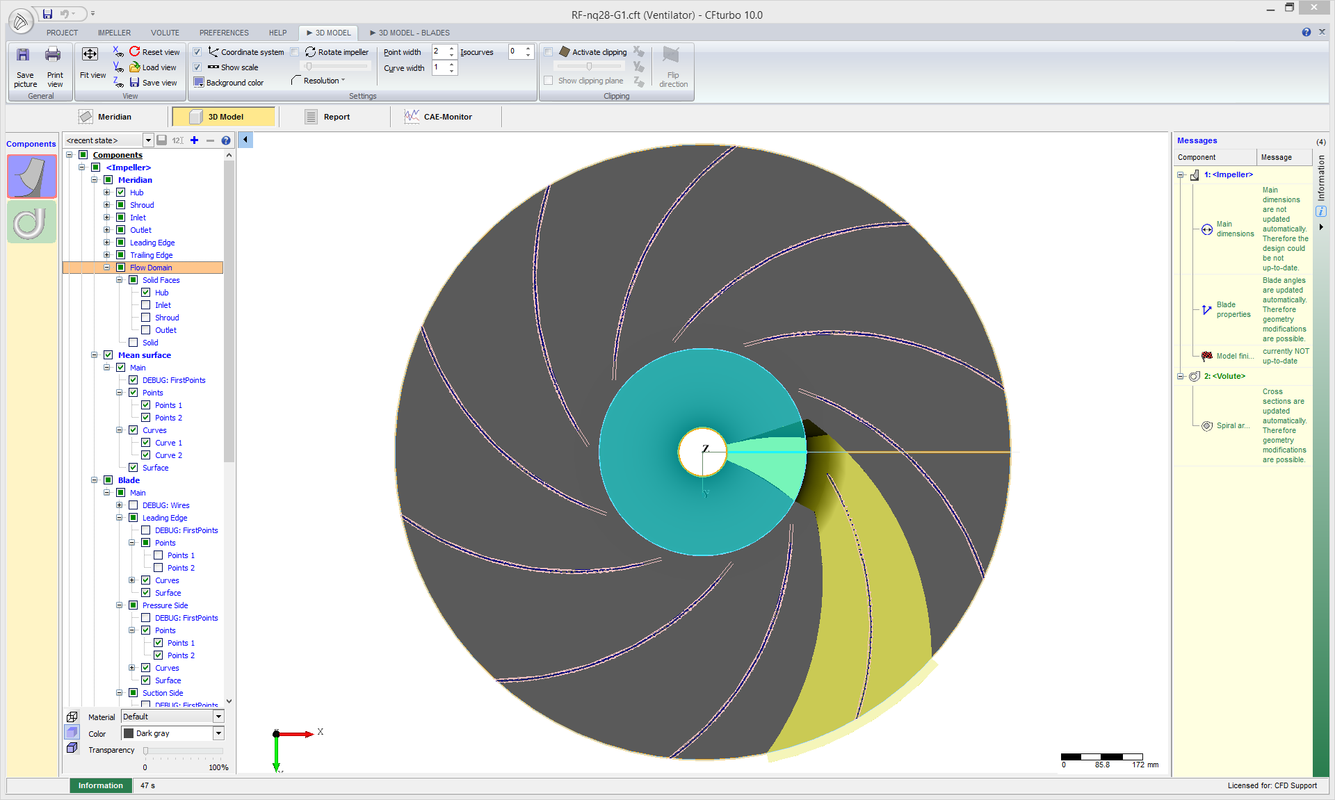 Centrifugal Fan Design : Radial fan cfd study
