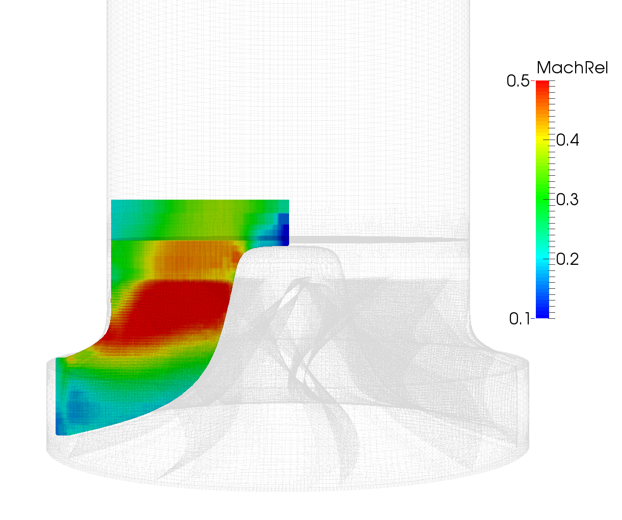 CFturbo-TurbomachineryCFD-radial-turbine-impeller-mach-relative-meridional-average