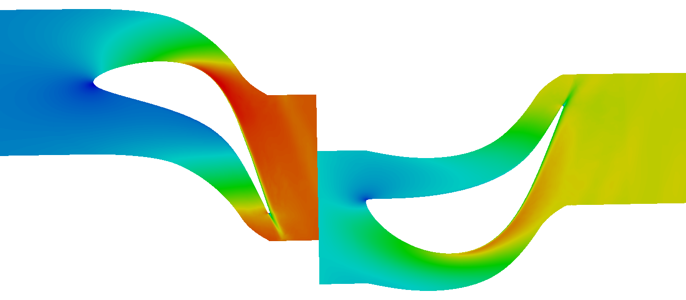 turbomachinery CFD Axial turbine total pressure per interfaces