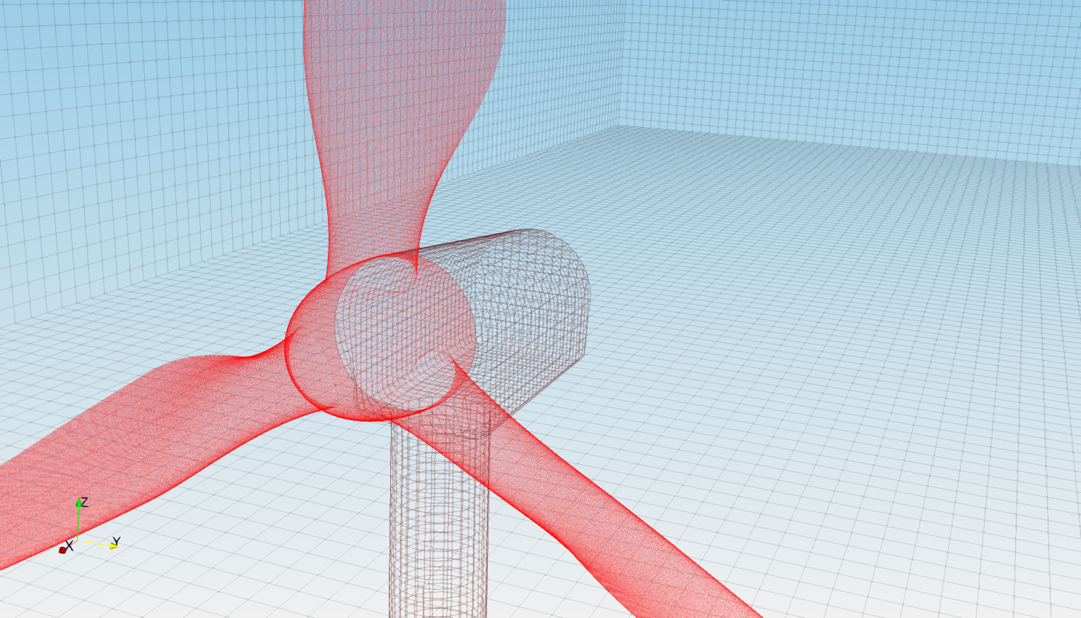 TCFD Wind Turbine tutorial mesh snappyHexMesh mesh