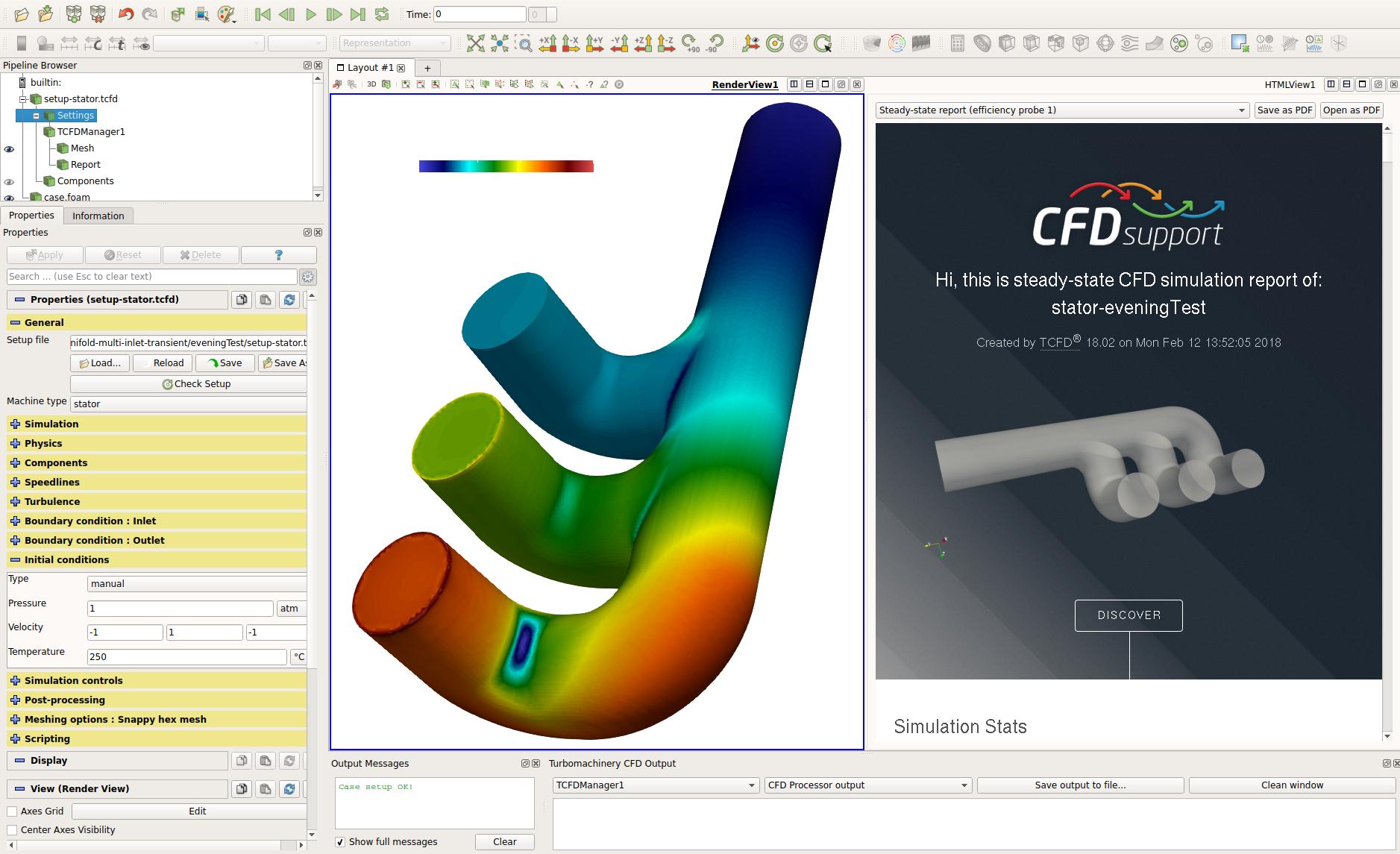 Manifold CFD Simulation