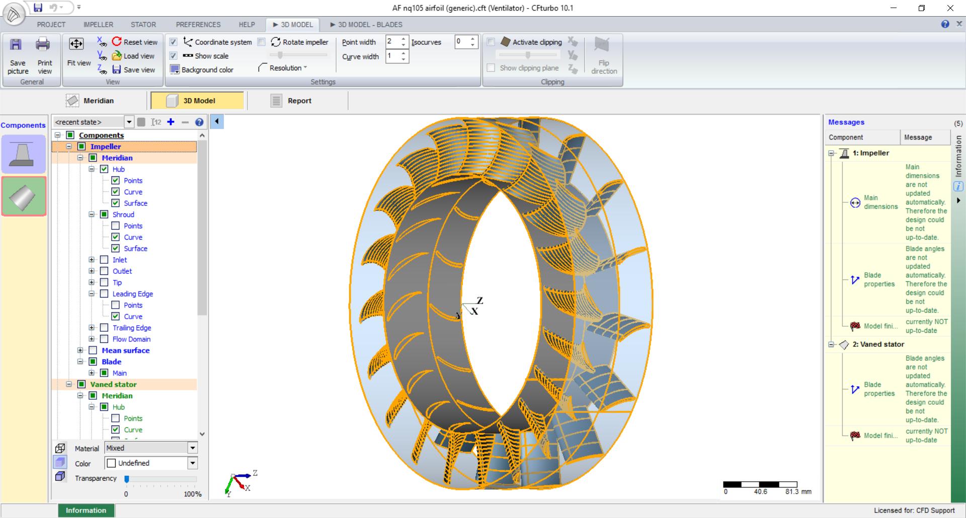 Centrifugal Fan Blades Design : Axial fan cfd study