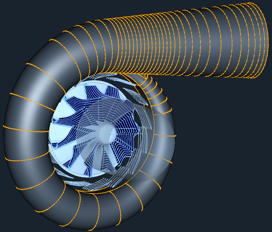 CFD OpenFOAM Radial Pump Model View