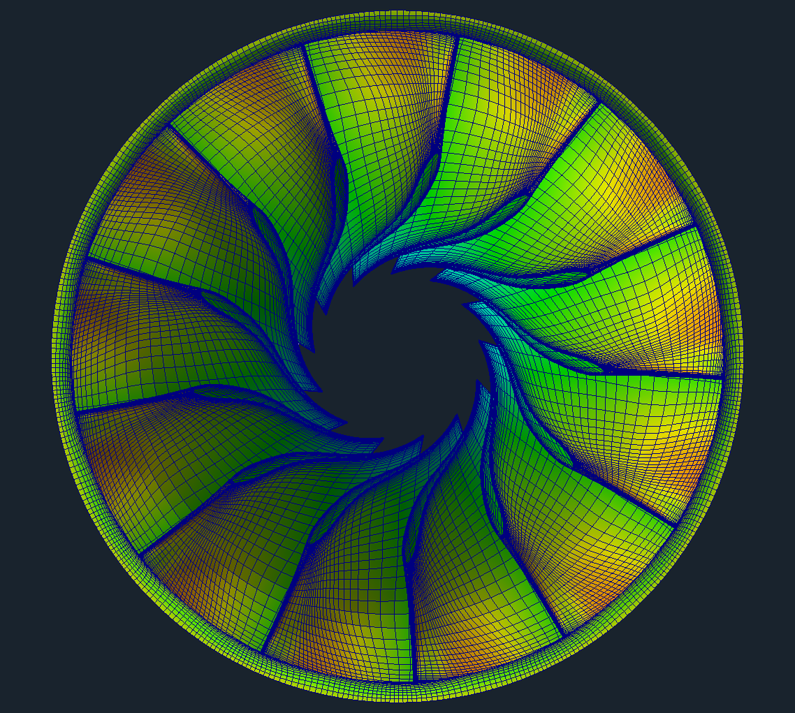 CFD Francis Water Turbine Wheel Mesh OpenFOAM
